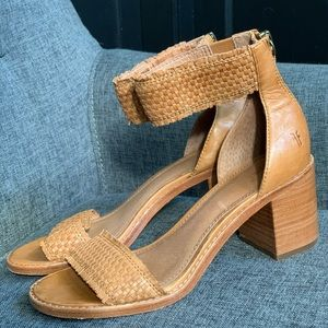 Frye Bianca Woven Back ZIP Sandals